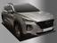 Chrome Window Visor Sun Rain Vent Guard 6P Silver D997 for Hyundai Santa Fe 2019