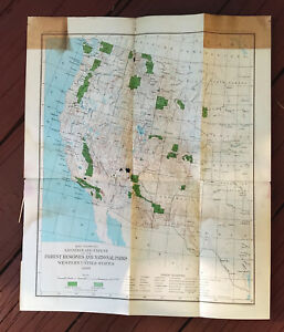 Details about 1899 Western US Map of Forest Reserves National Parks  Yellowstone Grand Canyon
