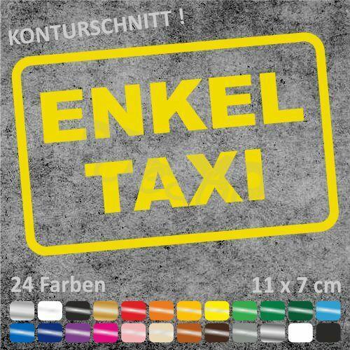 ENKEL TAXI Auto Autoaufkleber Sticker JDM Aufkleber 11 x 7 cm