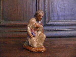 Ca. 100 Jahre alte Krippenfigur Figur Gips Josef aus 15er Serie Krippe