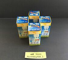 4PK Satco CFL Mini Spiral LIGHT BULB 13w COOL White ENERGY SAVER 3500K GU24 LOT