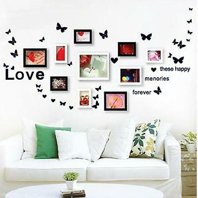 5 Colors PVC Removable Photo Frame Wall Sticker Home Decor Mural Decal Vinyl Art