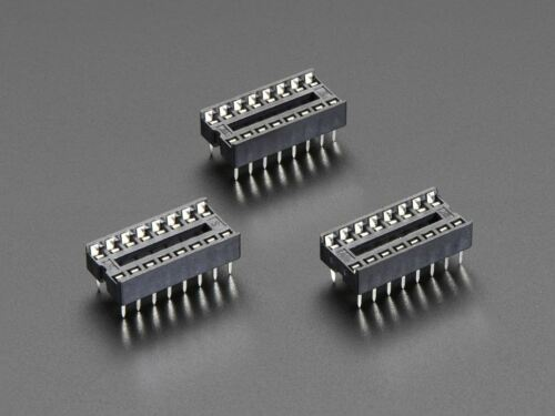 """Pack of 3 Adafruit IC Socket ADA2203 for 16-pin 0.3/"""" Chips"""
