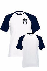 NY YANKEES BASEBALL T SHIRT TOP TEE UNISEX FRONT BACK logo S S ... 37021a5939a