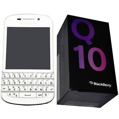 BNIB BlackBerry Q10 SQN100-3 White 16GB Azerty Keypad Factory Unlocked 4G  GSM 802975666188 | eBay