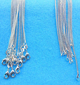 Wholesale-10PCS-Fashion-jewelry-925-Sterling-Silver-Plated-Box-Necklaces-Chain