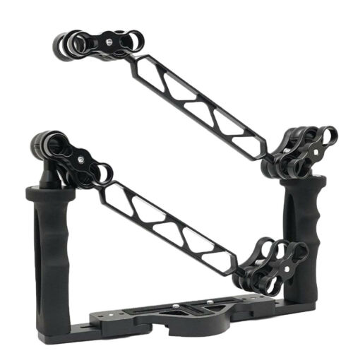 Aluminium Tray//Grip for Underwater Camera Housings with Ball Arm Clamp