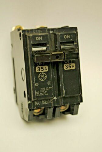 120//240Volt A.C. GE THQB2135 Bolt-On Circuit Breaker 2-Pole 35-Amp