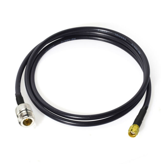 N Type Female to RP-SMA Male 1M 3FT Antenna Coaxial RG58 Cable Adapter Connector