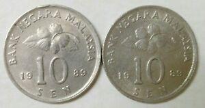 Second-Series-10-sen-coin-1989-2-pcs