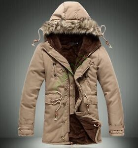 Mens-Stylish-Warm-Military-Fur-Hooded-Coat-Winter-Thicken-Cotton-Jacket-Outwear