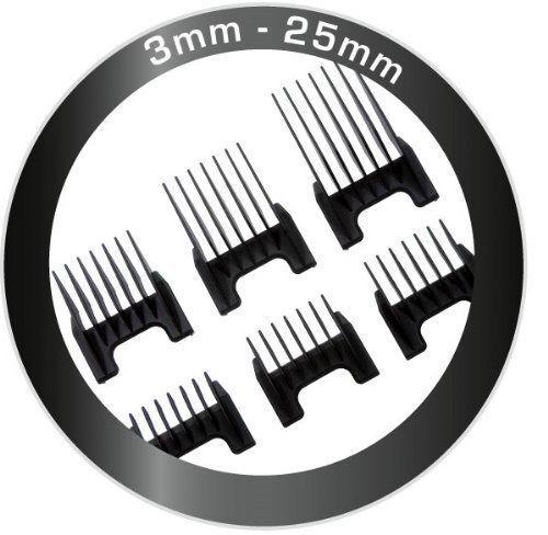 Scelta Super Cordless auschiebekämme 3,6,9,13,18,25 mm