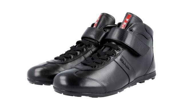 10 Shoes 4t2788 Black Prada Sneakers 43 Luxury Auth Top High Eu Us 67gyYbf