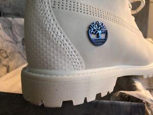 free shipping 99473 d2cfc Details zu Timberland Boots weiß Limited Edition A1Q87 US 8,5 EU 39,5