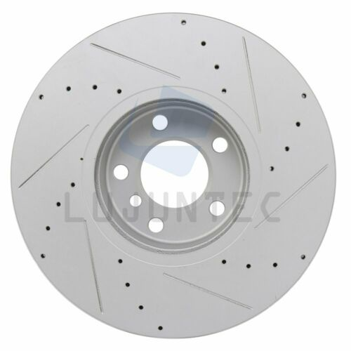 Front Discs Brake Rotors and Ceramic Pads For BMW X5 2011-2013 35i Drill G3000