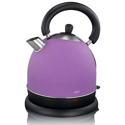Lila British Style Edelstahl-Wasserkocher 2000 Watt 1,8 Liter purple Kettle