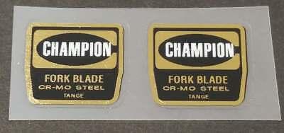sku Tang862 Tange Champion Fork Tubing Decals 1 Pair Mirror Gold // Black