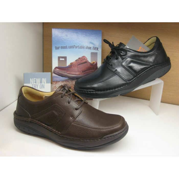 Clarks hommes MOVERS FLOW noirSmooth Lea , Active Air 10.5 G