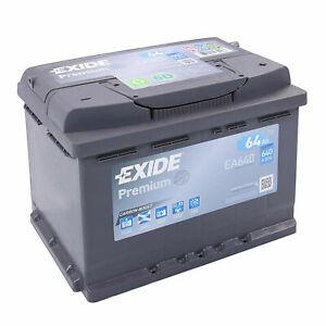 Autobatterie 64AH 12V 640A/EN Exide EA640 statt 54Ah 56Ah 60Ah 62Ah 63Ah 65Ah