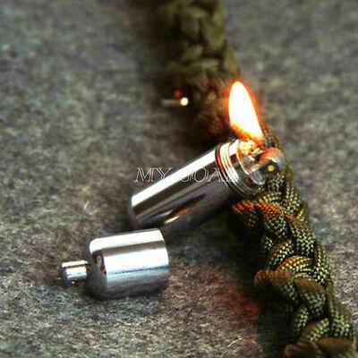 EDC Gear Fire Stash Waterproof Mini Survival Lighter Camping Pocket Keyring Tool