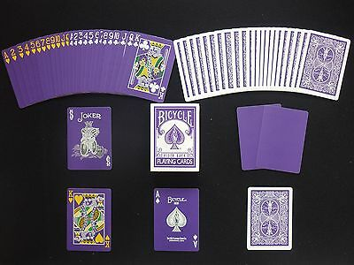 Bicycle The Purple Deck Magic Playing Cards Deck 4 Gaff cards included Poker New