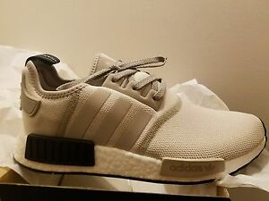 timeless design 7547d 7f4b5 Image is loading Adidas-NMD-R1-Runner-Tan-White-Cream-Black-