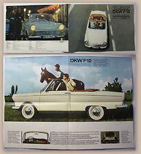 Original Werbeprospekt Poster Auto Union DKW F12 1960 Automobil Oldtimer Audi xz