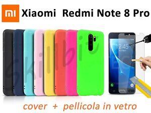 COVER per Xiaomi Redmi Note 8 Pro CUSTODIA Fronte Retro 360° SILICONE SLIM TPU