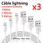 miniature 1 - CHARGEUR POUR APPLE CABLE 1M 2M 3M USB IPHONE SE/5S/6/6S/7/8/X/XR/11/Pro