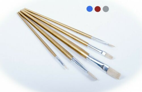 5x Pinselset 5-tlg flach Flachpinsel Künstlerpinsel Malpinsel Malerpinsel Pinsel