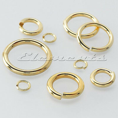 SOLID 9 CT YELLOW GOLD  6 MM STRONG JUMP RING OPEN LINK HEAVY OR LIGHT