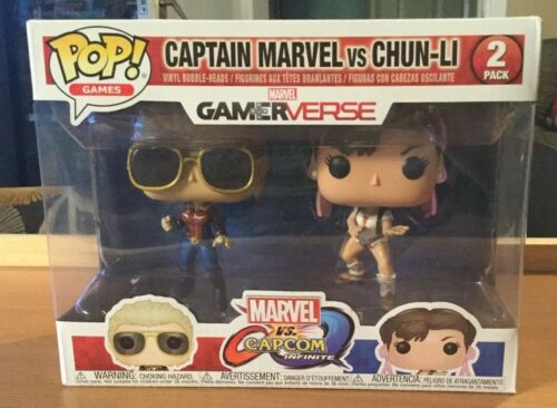 Gamerverse Marvel Vs Capcom 2 Pack Captain Marvel Vs Chun-Li Funko POP