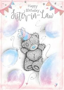 Image Is Loading Happy Birthday SISTER In LAW Small Tatty Teddy