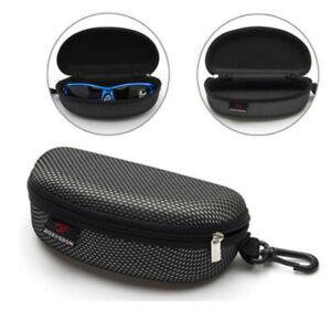 Portable-Black-Eye-Glasses-Sunglasses-Clam-Shell-Hard-Case-Protector-Box-Zipper