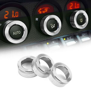 Air Conditioner Switch Knob Ring AC Knobs Cover Fit For Subaru BRZ Toyota 86 SIL