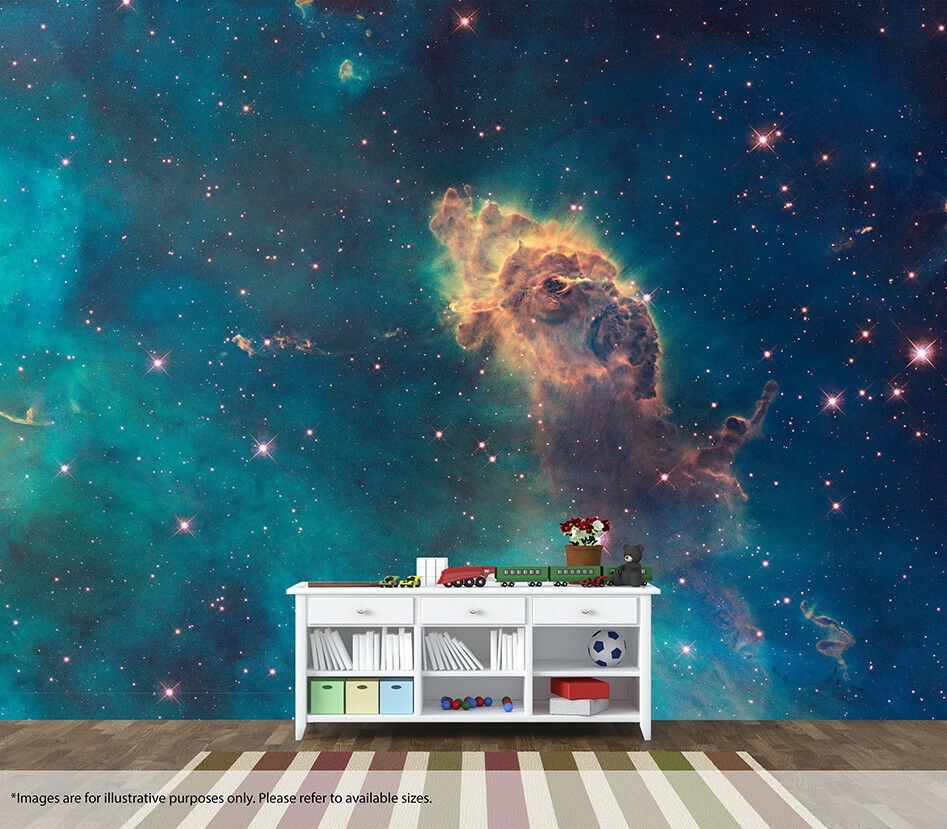 Space Nebular Wall Mural Wall Art Quality Pastable Wallpaper Decal