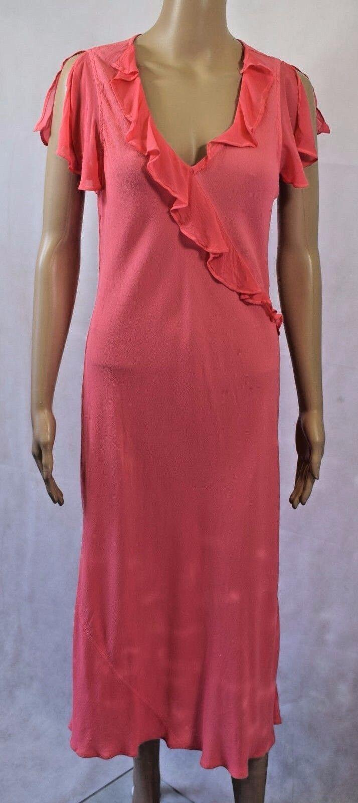 Bnwt Ghost London Coppelia Karen Dress In Blaush - UK M -    (R103)