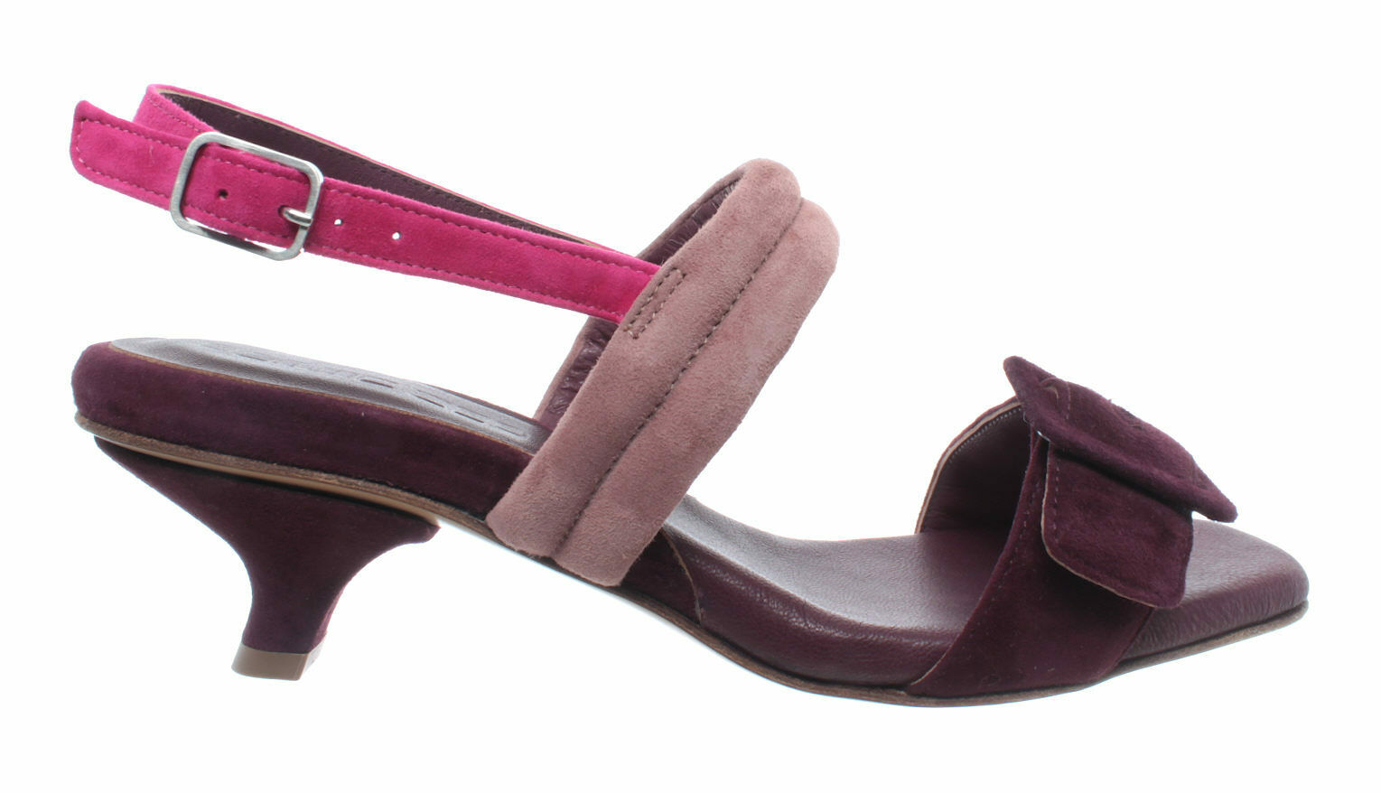 shoes Femme Sandales Talons POMME D'OR 4481A Camoscio Bordo' Chamois