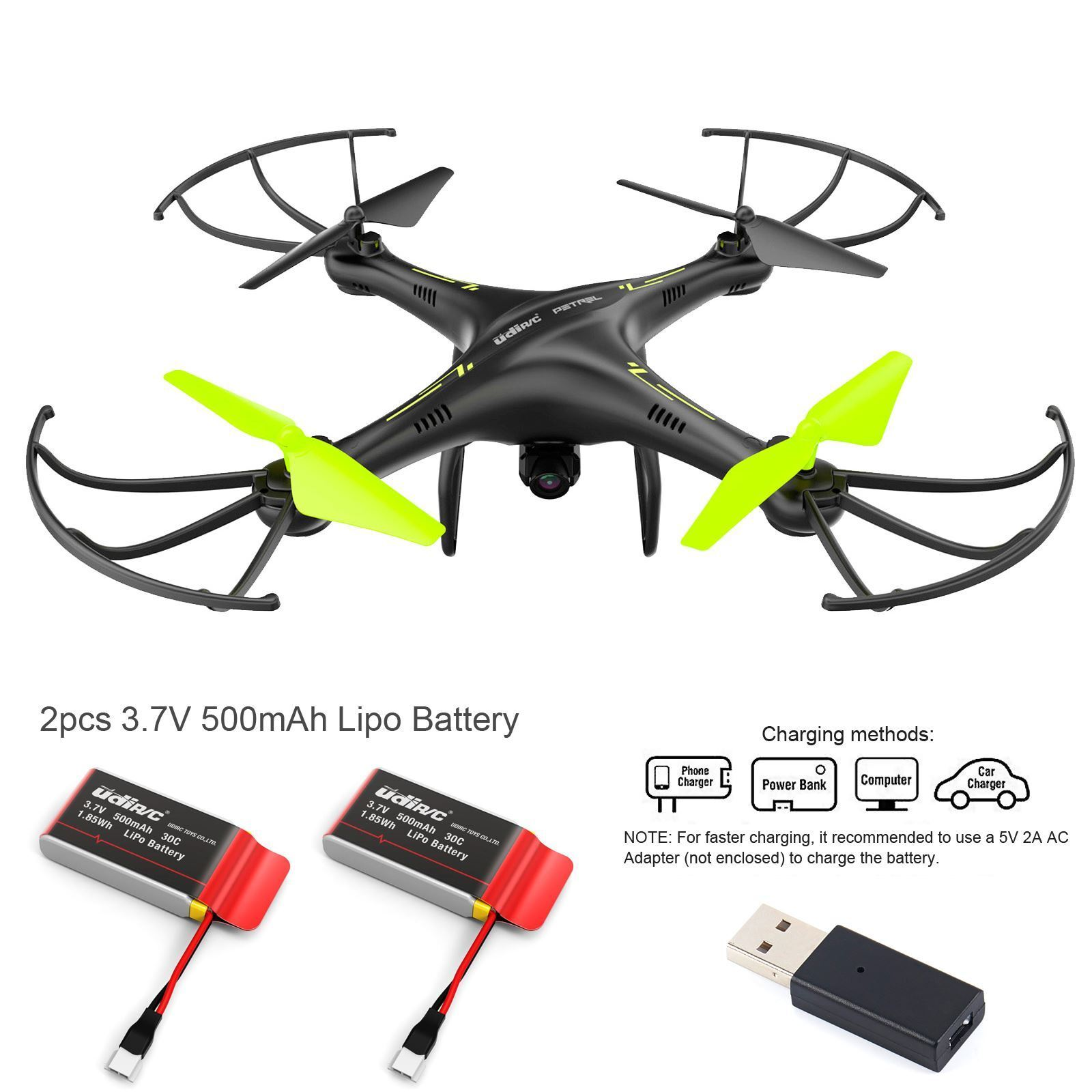 Udi Petrel U42W 2.4Ghz RC Quadcopter FPV Drone w    HD Camera live Video Batteries 749ab3