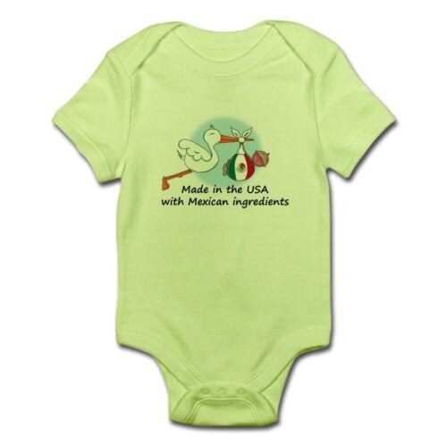 424772486 CafePress Stork Baby Mexico USA Infant Bodysuit Baby Bodysuit