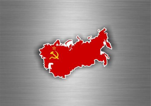 Sticker ussr cccp sssr urss russia soviet union flag map emblem russian car