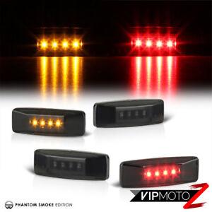 For-94-02-Dodge-Ram-3500-Dually-Rear-Side-Marker-Fender-LED-Bed-Light-Lamp-Smoke