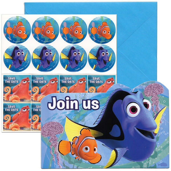FINDING DORY 8 INVITATIONS BIRTHDAY PARTY SUPPLIES