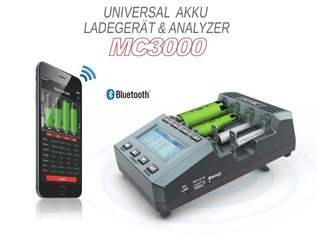 SkyRC MC3000 Profi Akku universal Analyse-Ladegerät Li-Ion LiFePO NiMH NiCd NiZn