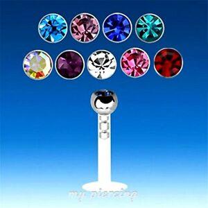 """16g ~ 5/16 """" Mixed Items & Lots Fashion Jewelry 1cm Bio Flessibile Push-in Per Labbra Monroe Con 316l Acciaio"""