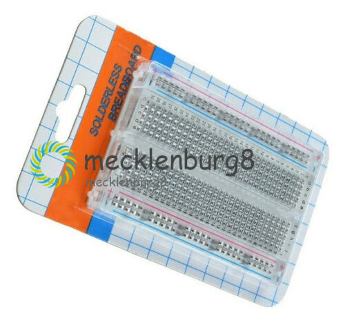 Mini Universal Clear Solderless Breadboard 400 Contacts Tie-points Available