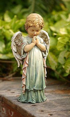 Praying Angel Cherub Pastel Garden Statue Indoor/Outdoor Decor