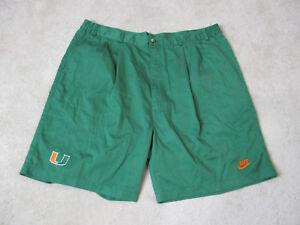 NIKE-Miami-Hurricanes-Shorts-Mens-Size-42-Green-Orange-Khaki-Football-Mens