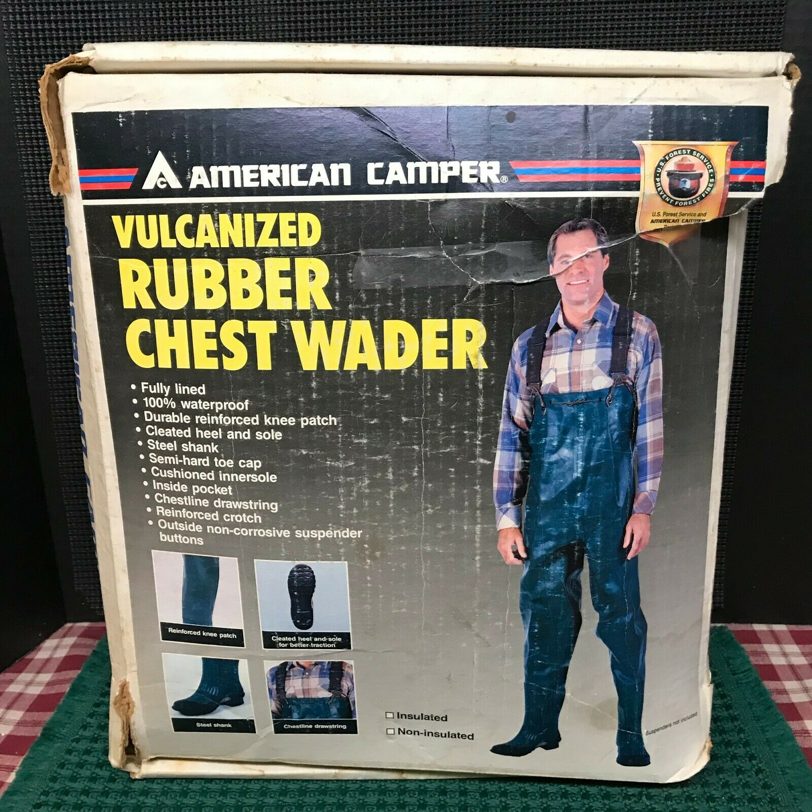 American Camper Foot  Chest Waders Forest Green Boot Size 10.  wholesale prices