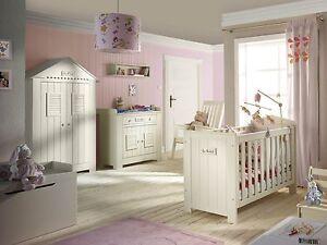 babyzimmer kiefer massiv marseille bett kommode mit wickelaufsatz schrank ebay. Black Bedroom Furniture Sets. Home Design Ideas